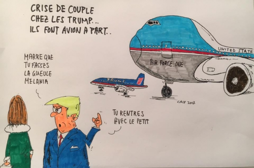 trump,USA,air force one,Melania, FBI,journaux,dessin de presse