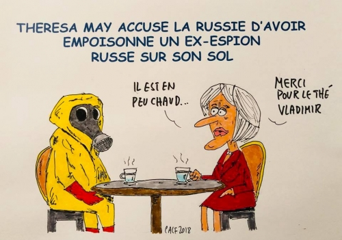 Theresa May, Poutine, anglettere, Russie, espions, spy, poison