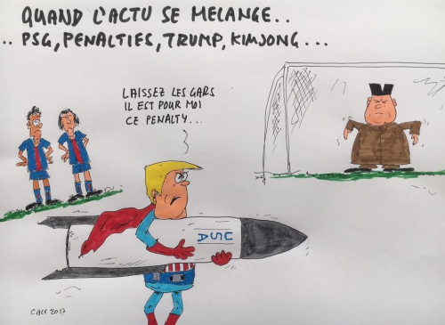 Trump,USA,Coréedu nord,japon, ONU, football, PSG, Neymar,Cavani, penalty