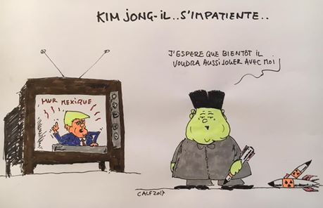 Trump,Kim Song Un.Corée, tension