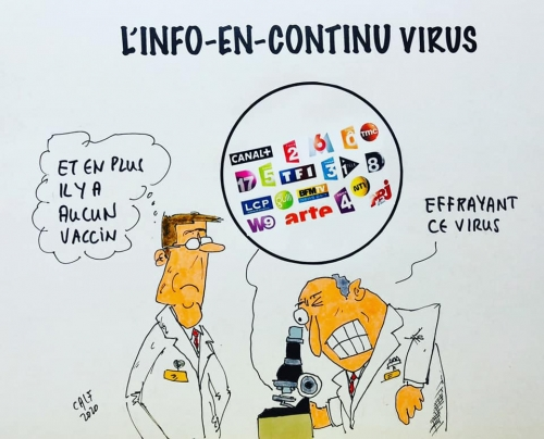 Info, news, TV, Virus, France, Macron